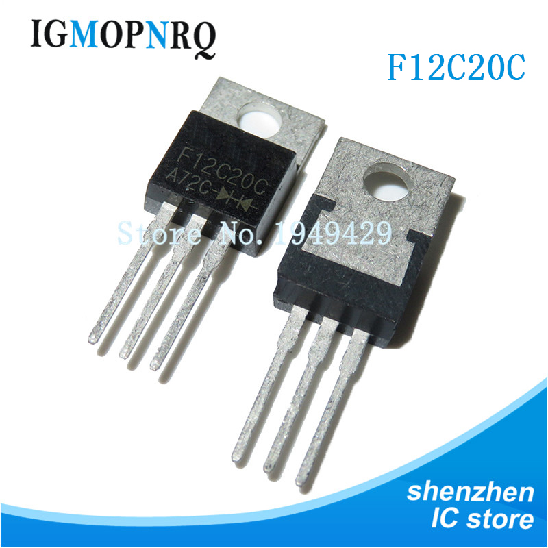 10PCS F12C20C TO-200 F12C20 TO220 200V 12A New Original