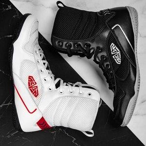 Zapatos de lucha para hombre, zapatillas de boxeo de malla transpirable, de calidad cómoda, ligeras