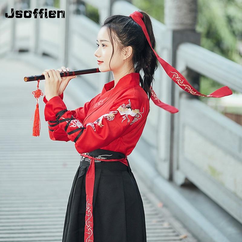 Novo chinês tradicional hanfu roupas para as mulheres antiga dinastia han princesa vestido de dança senhora espadachim palco cosplay traje