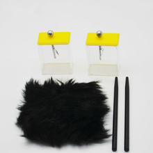 Фольгированный электроскоп пластиковый стержень с мехом для