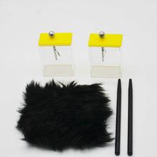 Haste plástica do eletroscópio da folha com equipamento de ensino experimental da física da escola secundária da pele