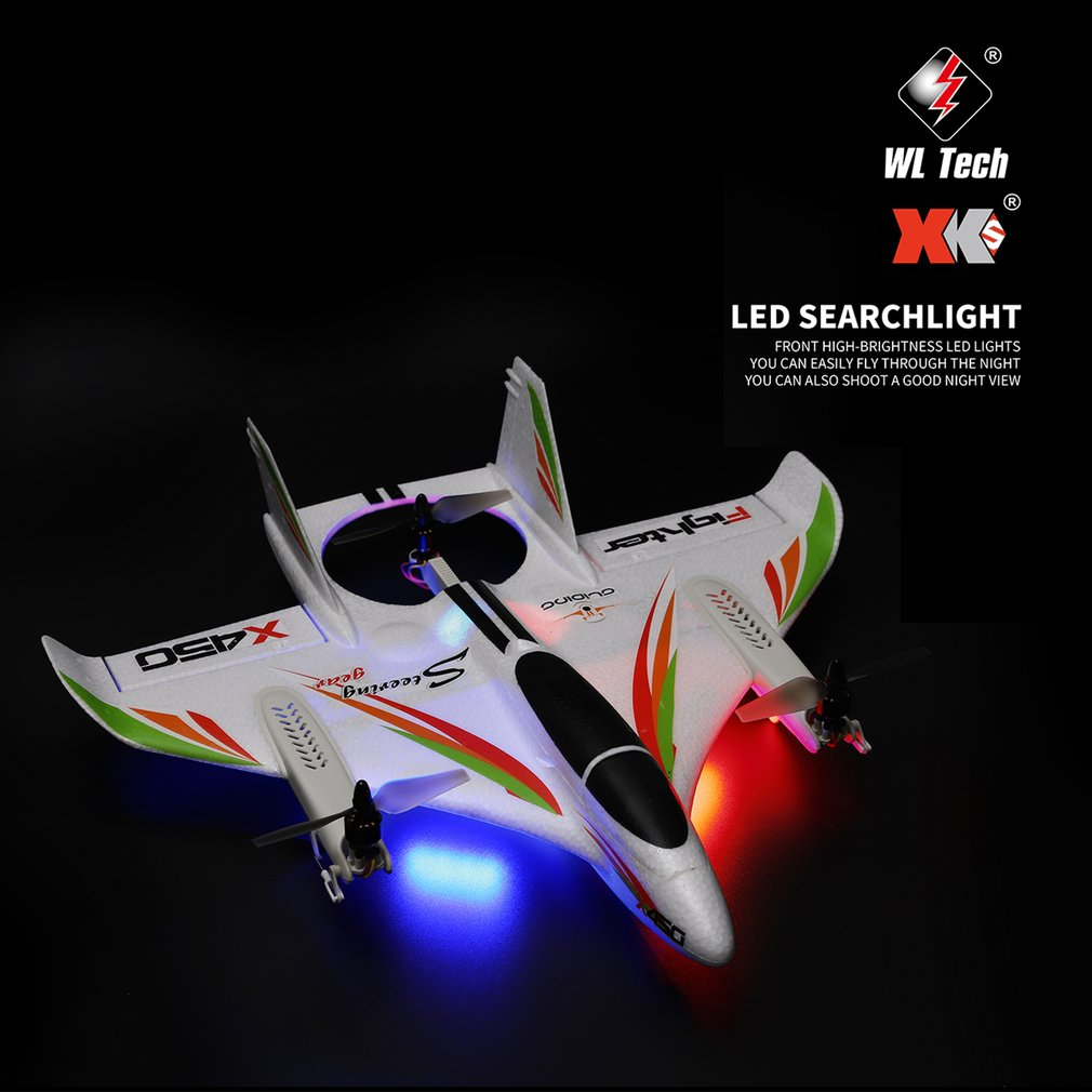 lowest price X450 3D Aerobatic RC Airplane 6 Channels Remote Control Vertical Takeoff Landing Fixed Wing Plane Helicopter Toys Drone