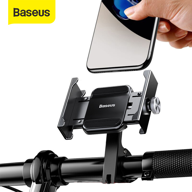 Baseus Motocycle Phone Holder Stand Aluminum Alloy For Iphone Xs Max Samsung 4.7-6.5 Inch Phone Bicycle Handlebar Mount Support