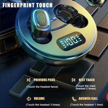 WS 200 TWS słuchawki Bluetooth bezprzewodowe słuchawki LED wyświetlacz Bluetooth 5.0 sportowy zestaw słuchawkowy słuchawki douszne z etui z funkcją ładowania