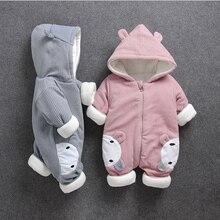 Mroźna zima Boys Baby dziewczyny dorywczo odzież z kapturem zestaw kombinezon noworodków chłopców dziewcząt ubrania stroje grube zestawy pajacyki 40
