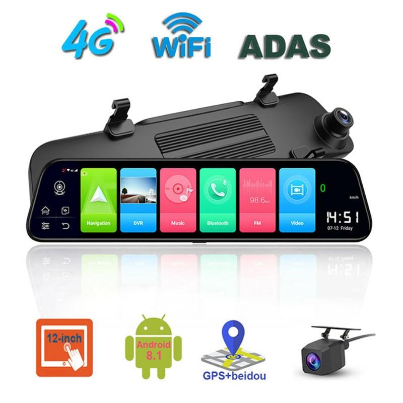 4G видеорегистратор 12 дюймов Автомобильное зеркало заднего вида ADAS Android 8,1 FHD Авто РЕГИСТРАТОР GPS навигация видеорегистратор зеркало заднего вида Автомобильный видеорегистратор|Видеорегистраторы|   | АлиЭкспресс