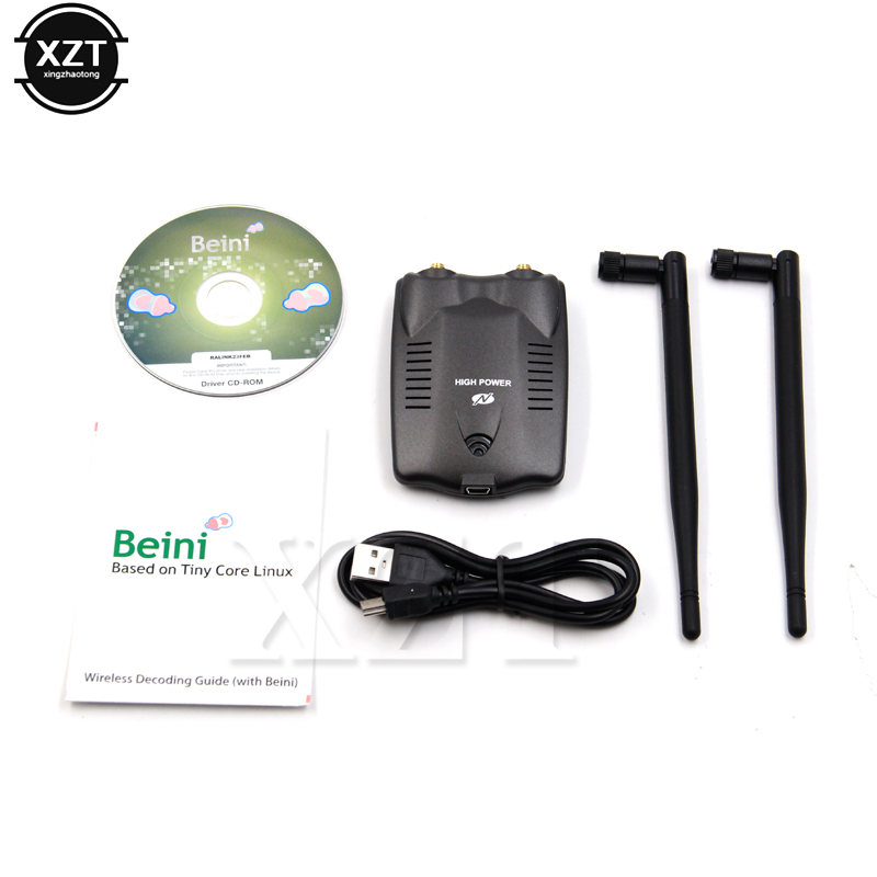 New BT-N9100 Beini USB Wifi Adapter Wireless Network Card Ralink 3070 High Power 3000mW Dual Antenna