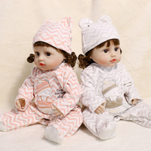 45CM Cute Silicone Dolls Reborn Baby Doll Toys For Girls Kids Full Body Silicone Vinyl Bebe New Born Lifelike Dolls With Clothes hot sale 22 reborn dolls lifelike handmade vinyl baby newborn dolls with clothes girls gift bedtime early education toys