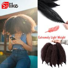 Hair-Extensions Braiding Crochet Twist Soft-Afro Black Synthetic for Woman High-Temperature-Fiber
