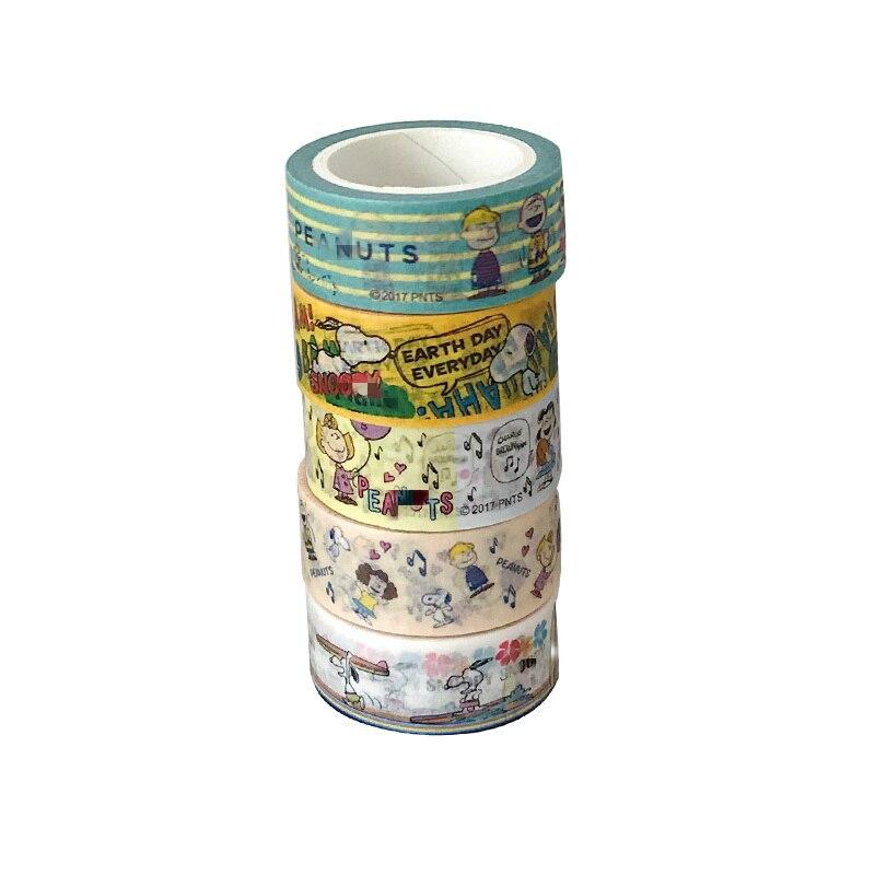 Купить с кэшбэком Ins Cartoon Cute Puppy Washi Tape Korea Student Creative Diary Handbook Diy Decorative adhesive Seal sticker Tapes stationery