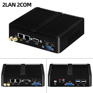 Image 2 - YCSD Fanless Mini PC Dual LAN Celeron N2810 J1900 Mini Computer 2*Gigabit LAN Windows 7 10 WIFI HDMI USB Desktop Micro Htpc Nuc