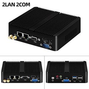 Image 2 - YCSD 팬리스 미니 PC 듀얼 LAN 셀러론 N2810 J1900 미니 컴퓨터 2 * 기가비트 LAN Windows 7 10 WIFI HDMI USB 데스크탑 마이크로 Htpc Nuc