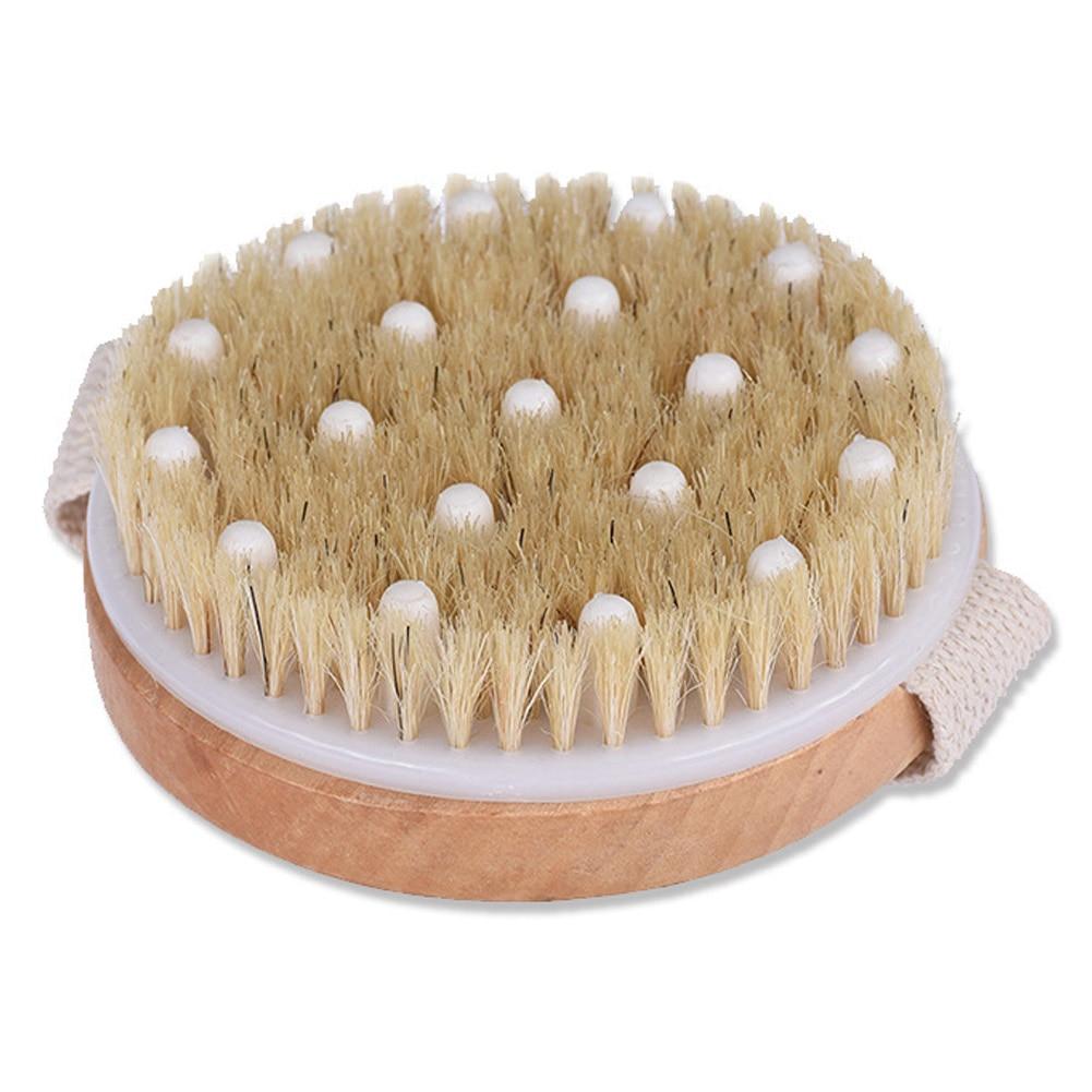 Body Brush Round Exfoliating Dry Brushing For Drainage Massager Scrubber Skin Brush NShopping