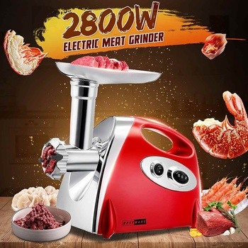 Электрическая мясорубка, 110-220 В, 2800 Вт, миксер, кухонная мясорубка, устройство для наполнения колбасок, машина для наполнения, Кухонный комбайн, слайсер для картошки