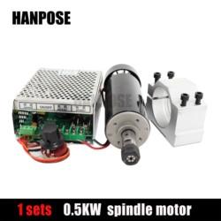 ER11 Mandrino Mandrino Motore di Cc E Regolatore di Alimentazione 0.5KW Raffreddato Ad Aria Motore Mandrino Sono Forniti Gratuitamente