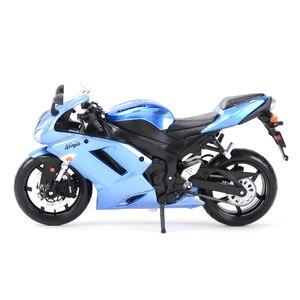 Image 5 - Maisto 1:12 Kawasaki Ninja ZX 6R mavi döküm araçları koleksiyon hobiler motosiklet Model oyuncaklar