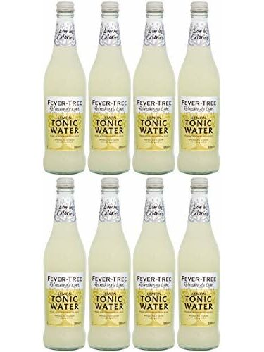 Fever Tree Refreshingly Light Lemon Tonic Water 500 Ml (Pack Of 8)