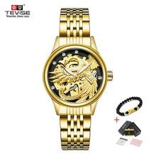 TEVISE Luxury Brand Fashion Phoenix Women Watches Luminous Clock Women
