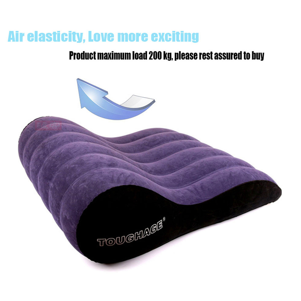 Inflatable Sex Sofa Bed Wedge Flocking Adults Sex Pillow Love Positions Support Cushion Couples Sexy Equipment Erotic Furnitures