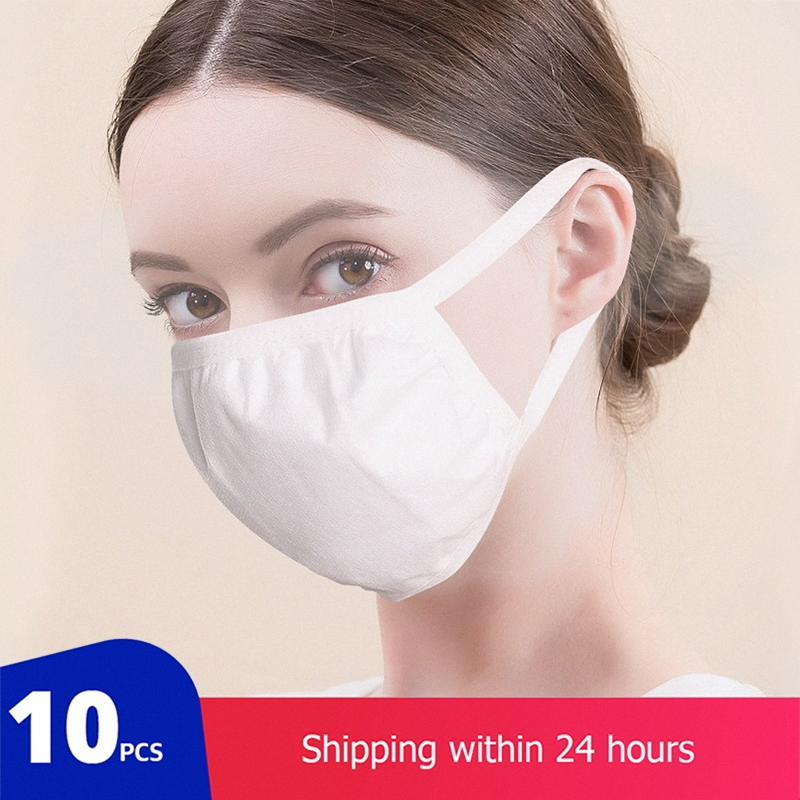 Mode bouche Masque facial blanc Pro masques Non-tissé crépuscule visage couverture filtre à Air Masque masques respiratoires Masque Mascarillas