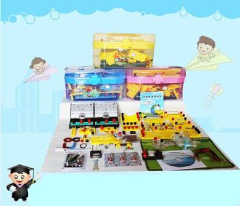 free shipping Junior high school electrical physics experiment box mini-lab science laboratory equipment
