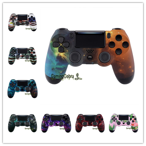 Custom Patterned Faceplate Front Housing <font><b>Shell</b></font> DIY Replacement Case for PS4 Slim Pro Controller <font><b>JDM</b></font>-040 <font><b>JDM</b></font>-050 <font><b>JDM</b></font>-<font><b>055</b></font> image