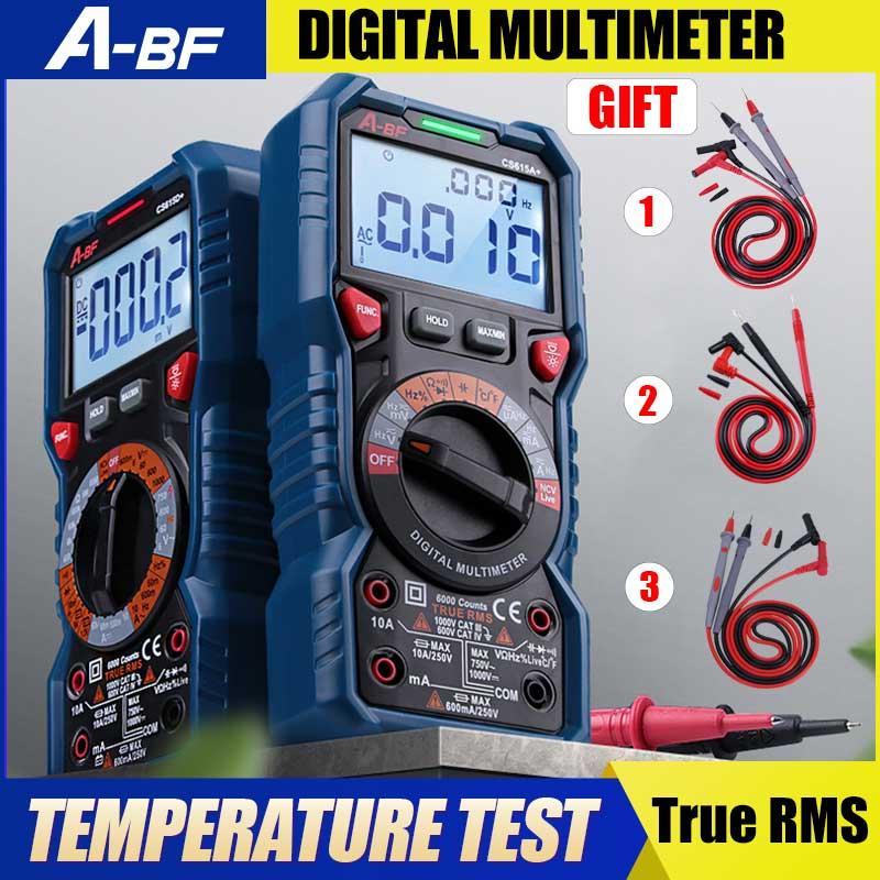 A-BF cs615a +/cs615d + multímetro digital verdadeiro rms faixa automática inteligente portátil multímetro de dados de alta precisão anti-queimadura