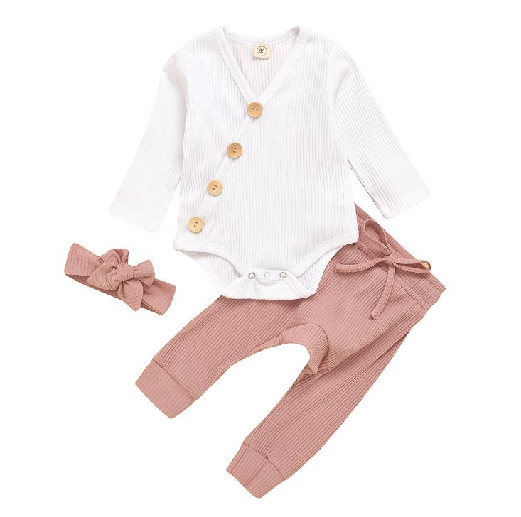 Newborn Baby Girl Clothes Set 0 3 Months Kids Infant Girl Clothing For Babies Clothes For Newborns Outfit Bodysuit Pant 3pc Suit