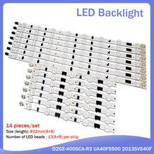 4 Pieces(2*R+2*L) New UA40F5000AR UA40F6300AJ LED strip for SAMSUNG 2013SVS40F L 8 R 5