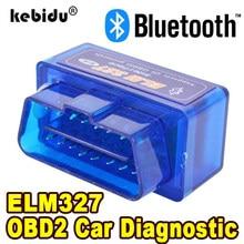Bluetooth elm327 versão mais recente v2.1 nova ferramenta de diagnóstico super mini elm 327 do leitor código do scanner do automóvel obd para android