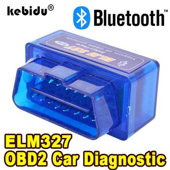 Bluetooth ELM327 najnowszej wersji V2 1 nowy samochodowe OBD skaner czytnik kodów błędów narzędzie diagnostyczne do samochodów Super MINI ELM 327 dla systemu Android tanie i dobre opinie kebidu CN (pochodzenie) ODB2 english Czytniki kodów i skanowania narzędzia KBT000698 ELM327 Bluetooth Car Code Readers