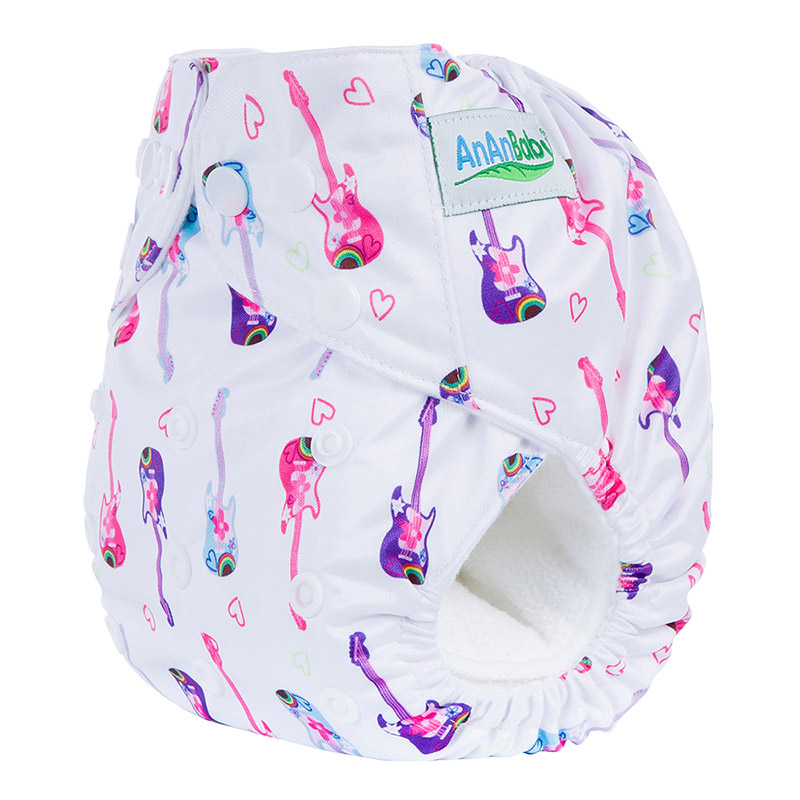 50Pcs/Lot Digital Print Organic Reusable Baby Cloth Diapers With Insert Suit 3-15KG And You Can Choose A Suit