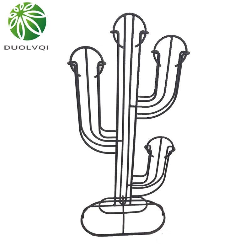 Practical Metal Coffee Capsule Dispenser Rack Creative Cactus Shape Capsules Stand Storage Holder Fits For 40 Nespresso Capsules
