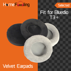 Homefeeling Earpads for Bluedio T3+ / T3 Plus Headphones Earpad Cushions Covers Velvet Ear Pad Replacement
