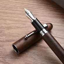 Jinhao New Wooden Fountain Pen High Quality 0.7mm Nib 2 Colors Luxury Wood Ink Pens Business Gifts Writing Office School Supplie