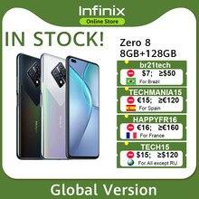 Versão global infinix zero 8 8gb 128gb telefone móvel 6.85 fffhd 90hz tela 64mp quad câmera 4500mah bateria 33w carregador