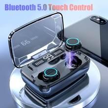 fone de ouvido bluetooth V5.0 tws fone de ouvido sem fio fones controle toque headset led display digital estéreo esporte sem fio 3300 mah para o telefone headphone