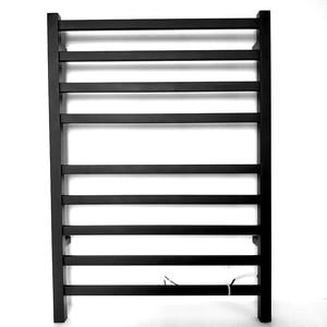 2020 novo preto fosco toalha elétrica secador de roupas rack banheiro acessório aço inoxidável quadrado aquecido aquecedor toalha HZ-918