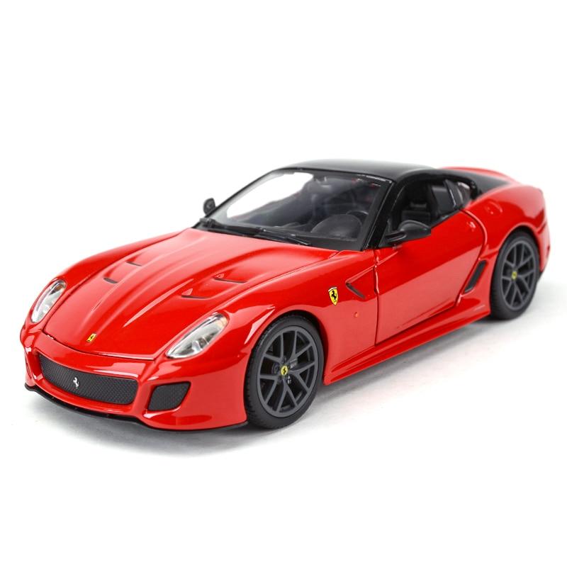 Bburago 1:24 599GTO Sports Car Static Simulation Diecast Alloy Model Car