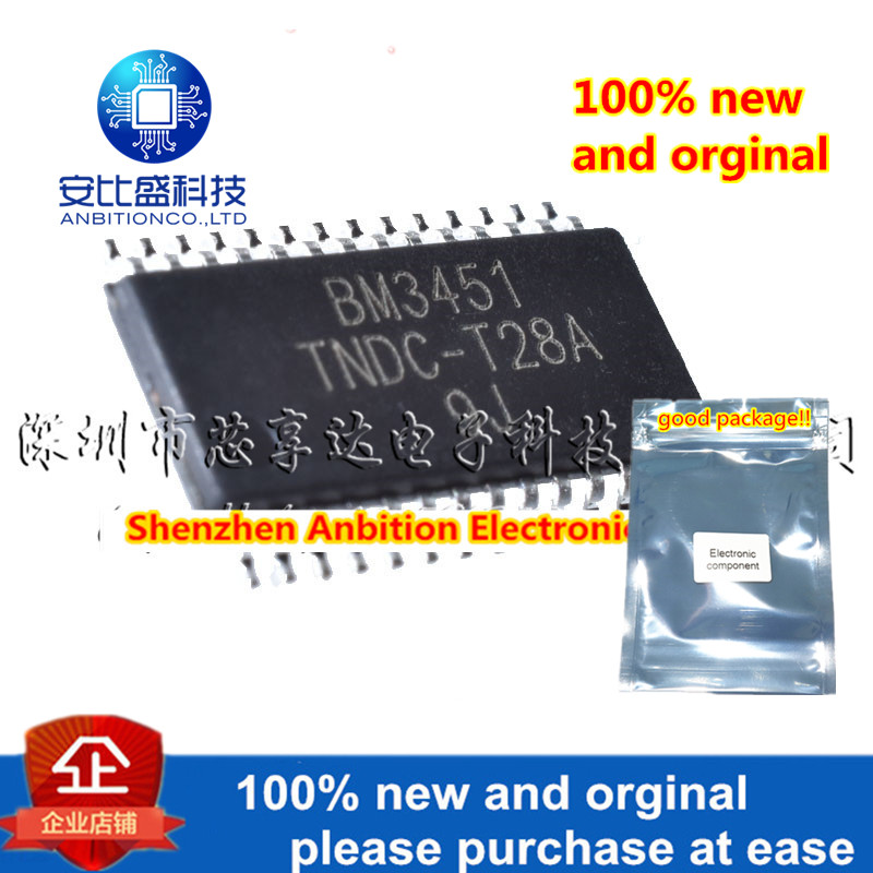 1pcs 100% New And Orginal BM3451TNDC-T28A TSSOP-28 Multiple Lithium Battery Protection Chips In Stock