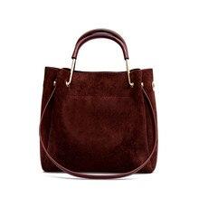 JCPAL Vintage Women's Bag Shoulder Female Luxury Suede Leather Messenger