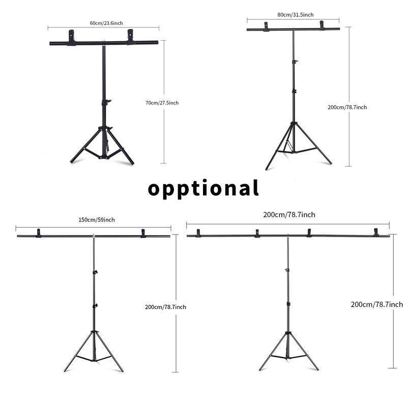 Image 2 - Professional Photography Photo Backdrops T Shape Background Frame Support System Stands With Clamps-in Photo Studio Accessories from Consumer Electronics