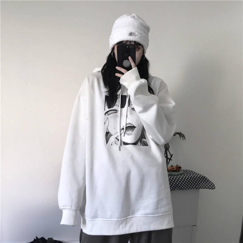 Harajuku Yandere Hoodie Streetwear 1