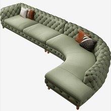 Sofá Seccional de tela de terciopelo para sala de estar, mueble esquinero para el hogar, con respaldo funcional en forma de L, moderno, Américo europeo