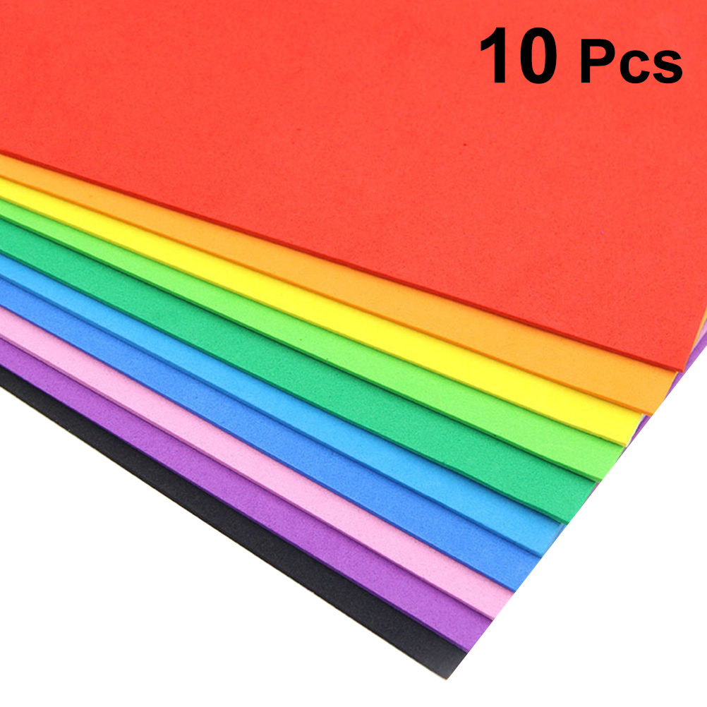 10PCS Foam Paper DIY Craft Paper A4 Size EVA Sponge Foam Sheet For Craft Use title=
