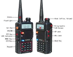 Image 4 - 2 adet 8W Baofeng UV 5R radyo seti Walkie Talkie UV 5R UV5R iki yönlü radyo istasyonu verici USB dişi yumuşak anten 771
