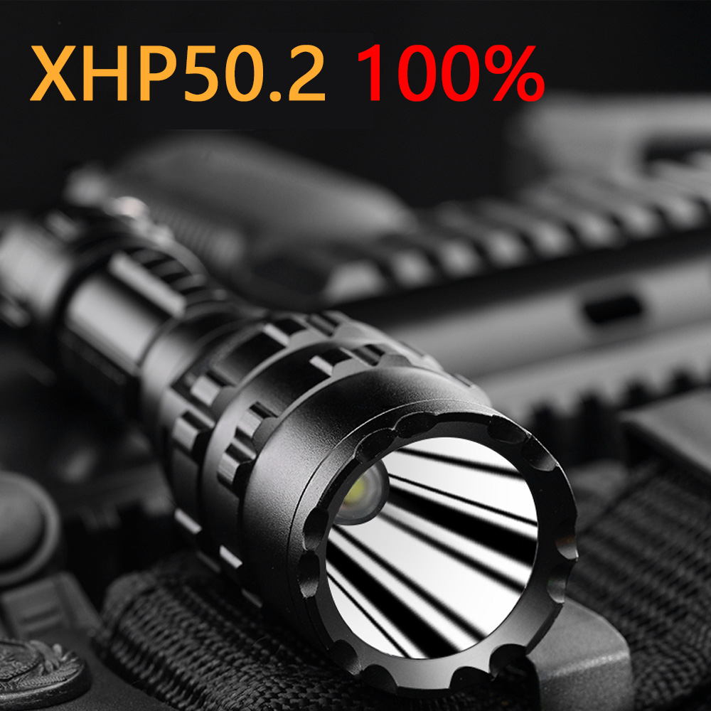 XHP50.2 Tactical Flashlight Most Powerful LED Flashlight Tactical Torch USB Hunting Flash Light Rechargeable L2 26650 Hand Lamp