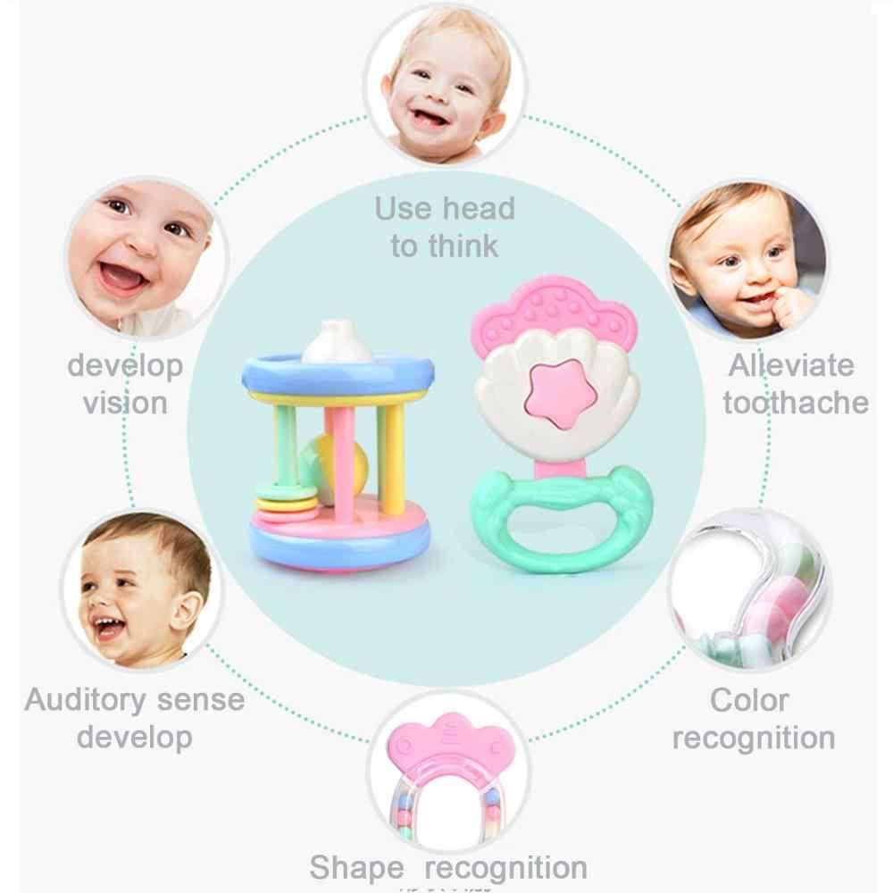 ของเล่นเด็ก Hand Jingle สั่นกระดิ่งน่ารัก Hand Shake Bell แหวนเด็กทารก Rattles ของเล่นเด็กทารกแรกเกิด 0-12 เดือน Teether ของเล่น