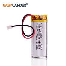 3.7V 700 mAh litowo polimerowa bateria Li po komórki 2pin JST 2.0mm wtyczka 702050 dla GPS DVC DVR mp4 aparat E-book telefon 5.0