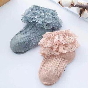 1 пара, Детские хлопковые кружевные носки